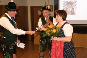 Ehrung Karin Rohrmair Bruno Meier, Karin Rohrmaier, Herbert Sappl