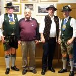 Ehrung für 25 Jahre Mitgliedschaft (v.l.n.r.): 1. Vorsitzender Bruno Meier, Klaus Häusler, Rainer Reiser, 2. Vorsitzender Christian Schramm