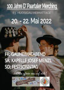 Paartaler Plakat Gaufest 2022